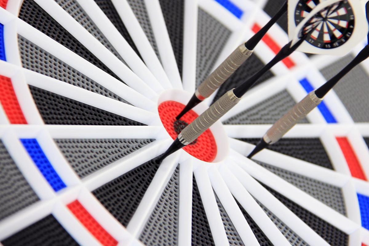 ダーツボード練習時の消音のイメージ画像